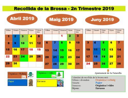 Calendari de la brossa 2n Trimestre
