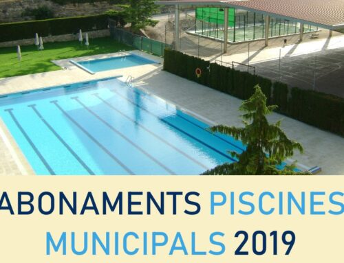Abonaments piscines temporada estiu 2019