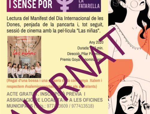 Actes previstos per celebrar el Dia Internacional de les Dones: ajornats fins a nou avís.