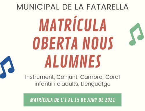 EMMFa – Període matriculació de l'1 al 15 de juny de 2021.